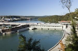 Wasserkraftwerk Rheinfelden Baustelle 2010