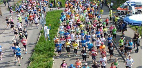 Halbmarathon Freiburg 2014: Geschafft: das war harte Arbeit