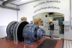 Wasserkraftwerk Hottingen Maschinensaal