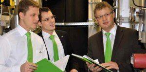 Experten für Wärme- und Energielösungen - Alexandros Dimitriou, Jörg Bleile und Klaus Nerz - von links nach rechts