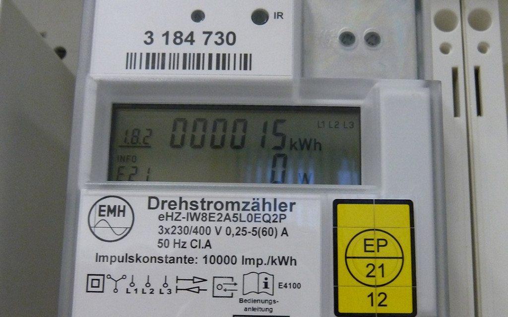 Wie funktioniert die PIN-Eingabe bei einem elektronischen Zähler?