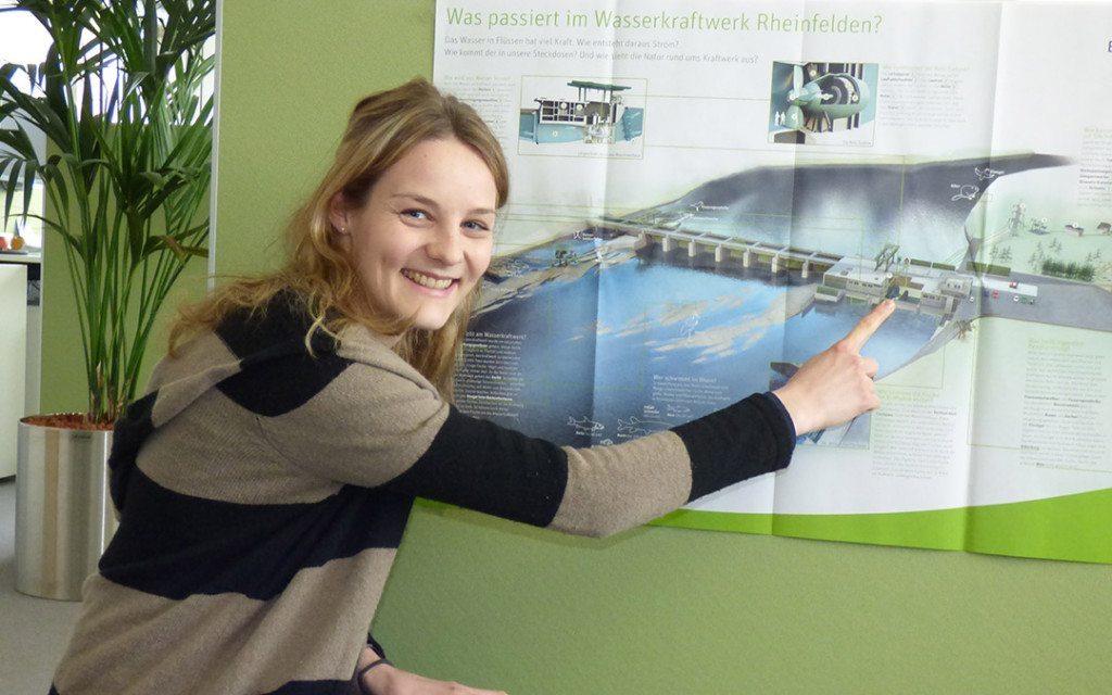 """""""Wie funktioniert Wasserkraft?"""" – das Lernposter von Energiedienst zeigt's!"""