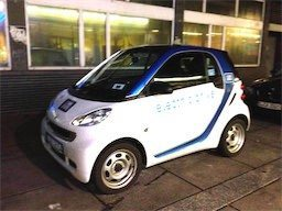 Car2Go Stuttgart in Aktion