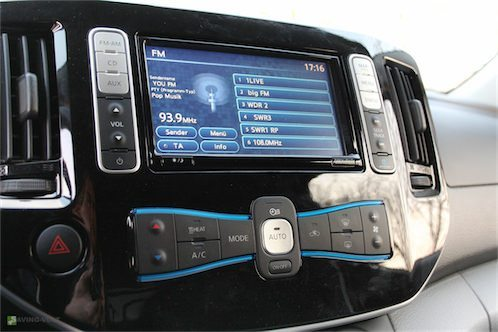 Nissan e-NV200 Display