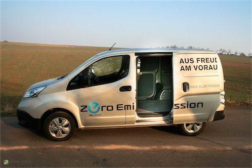 Nissan e-NV200 - ein elektrisch betriebener Transporter mit sehr viel Platz