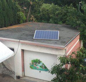 Photovoltaik auf dem Garagendach
