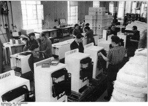 Kühlschrank-Produktion in den 50er