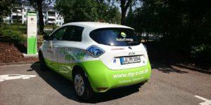 my-e-car-Parken an der Ladesäule