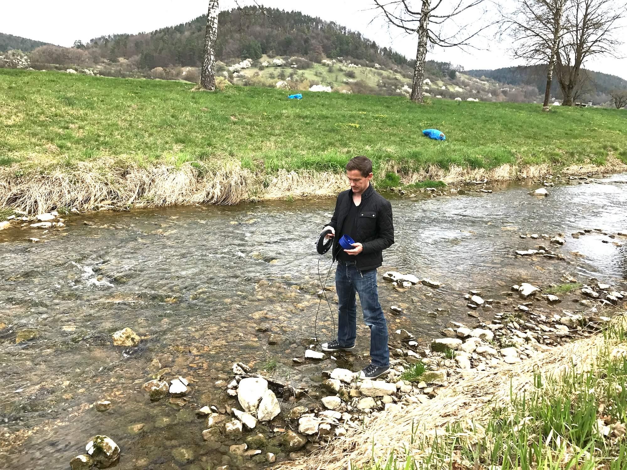 Die Suche nach einer geeigneten Stelle für das Wasserkraftwerk