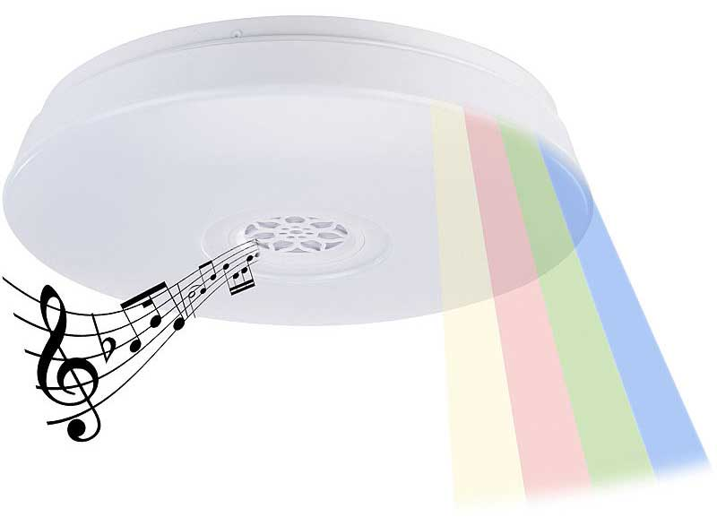 LED Deckenleuchte mit integriertem Lautsprecher