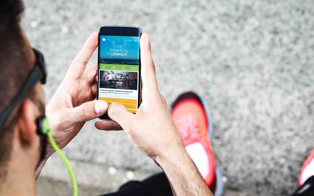 Die SmartCity-App: Herunterladen, loslaufen und Projekte in Lörrach unterstützen
