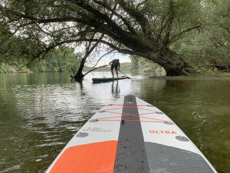Stand-up-Paddling auf dem Rhein