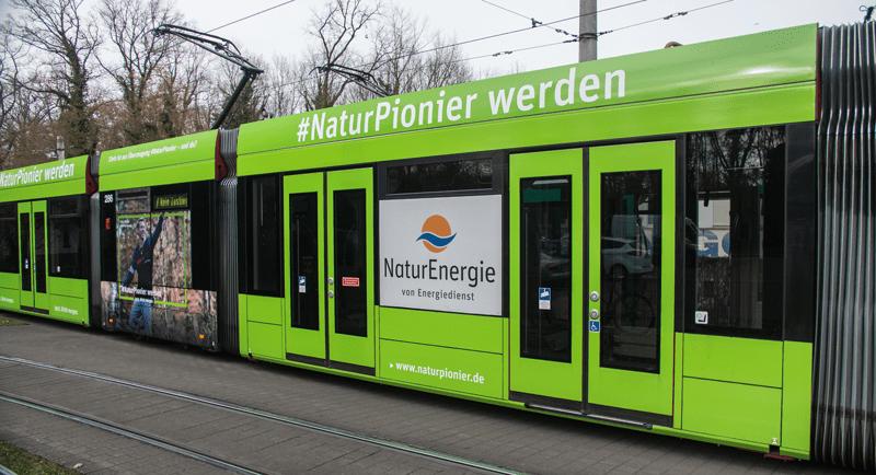 NaturEnergie Straßenbahn in Freiburg
