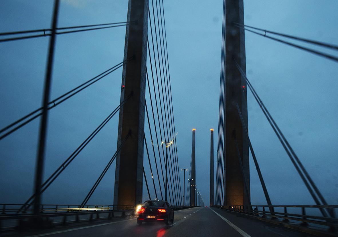 Die Öresundbrücke zwischen Kopenhagen und Malmö