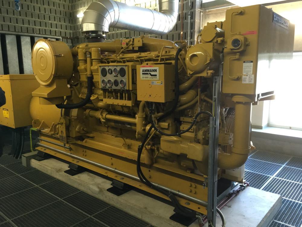 Notstromaggregat im Kraftwerk Laufenburg