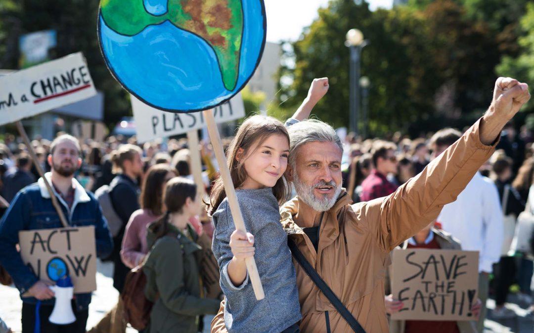 Demonstranten protestieren gegen den Klimawandel