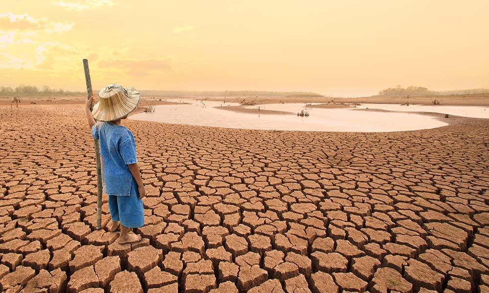 Der Klimandel ist eine Gefahr für die Menschheit.
