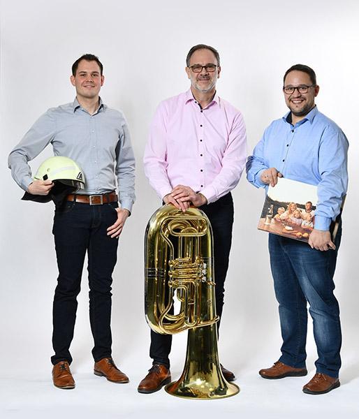 Jörg Bleile, Edmund Martin und Roman Gayer sind als Kommunalbetreuer in Südbaden aktiv.