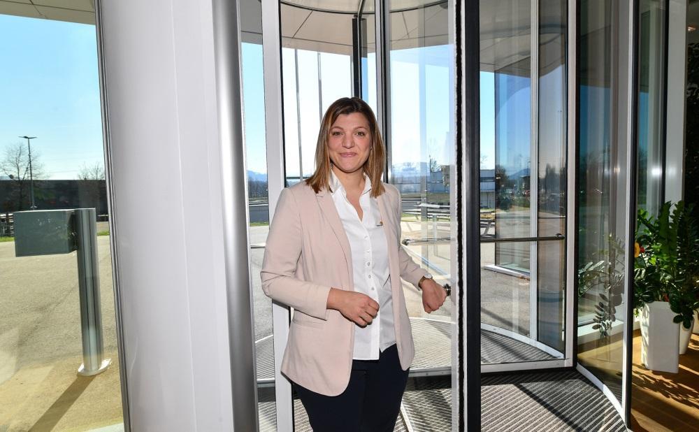 Sarah Born bei Energiedienst in Rheinfelden