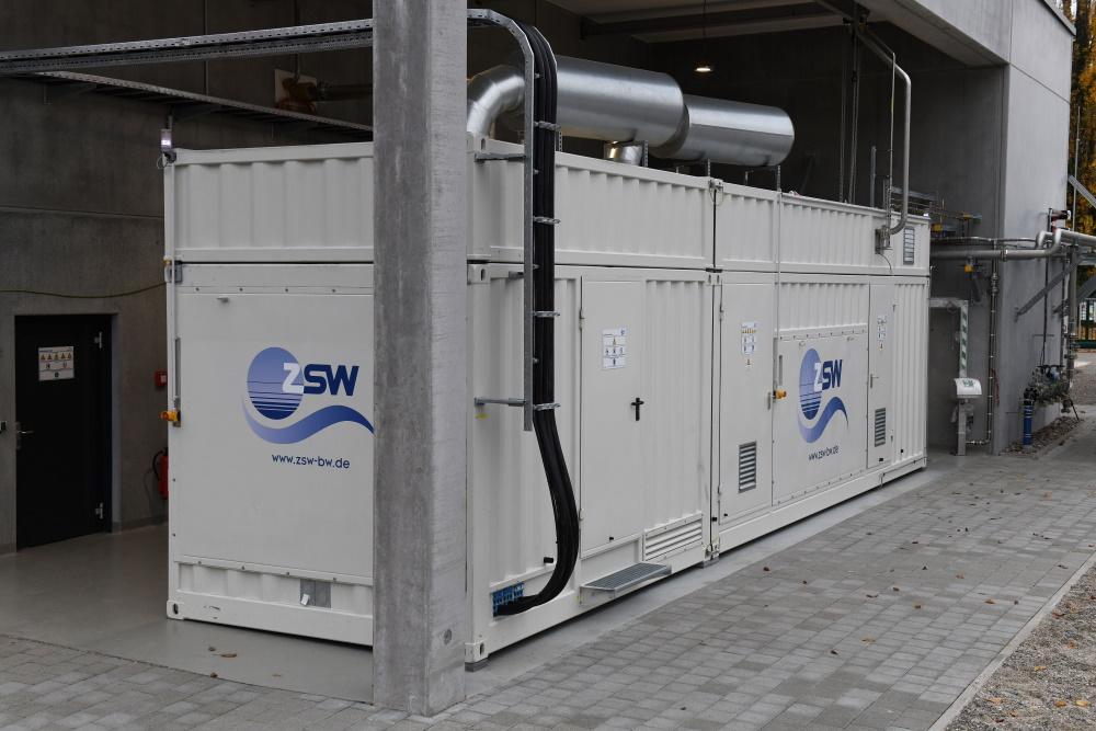 Das ZSW betreibt eine Forschungsanlage bei der Power-to-Gas Anlage in Wyhlen