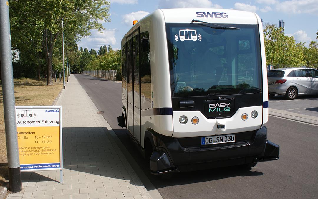 Haltestelle für den Autonomen Bus in Lahr