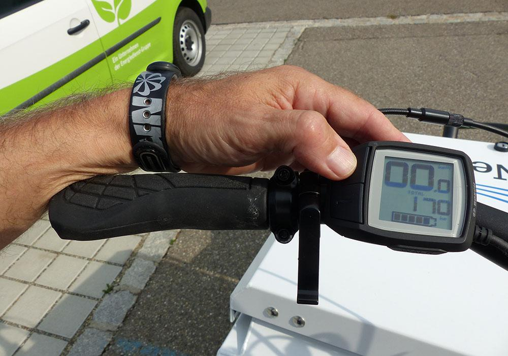 Christian Arnold fuhr 170 Kilometer mit dem Lastenrad.