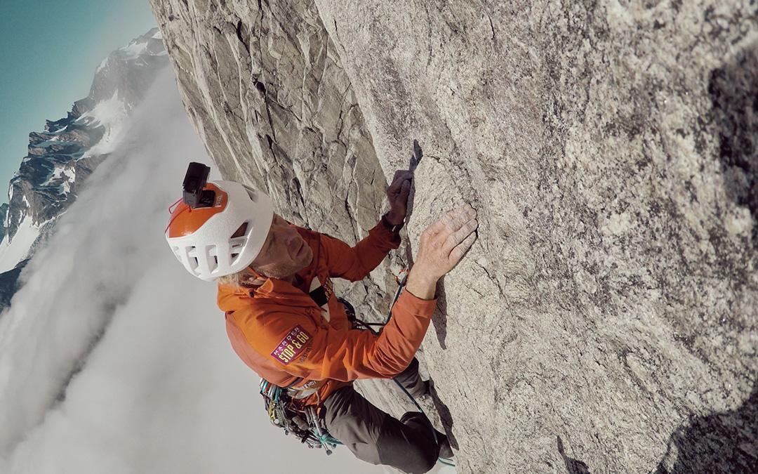 Robert Jasper klettert in Grönland