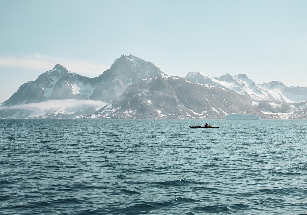 Jaspers Seekayak in Grönland