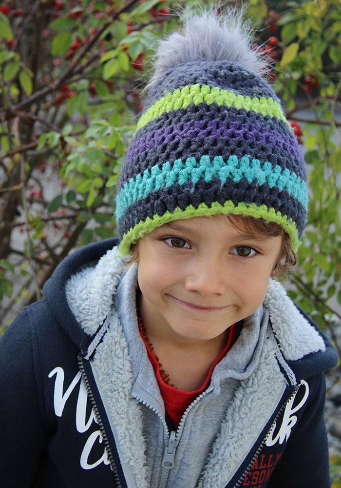 Mütze aus Wolle stricken