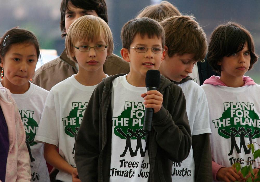 Felix wirbt für Klimaschutz