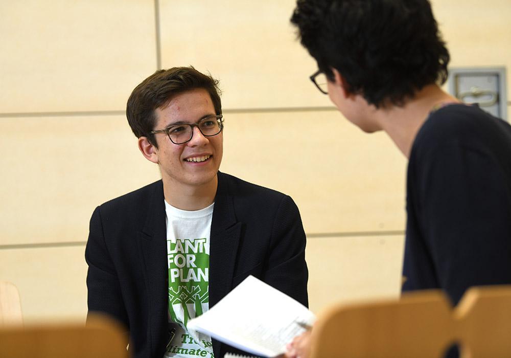 Felix Finkbeiner im Gespräch