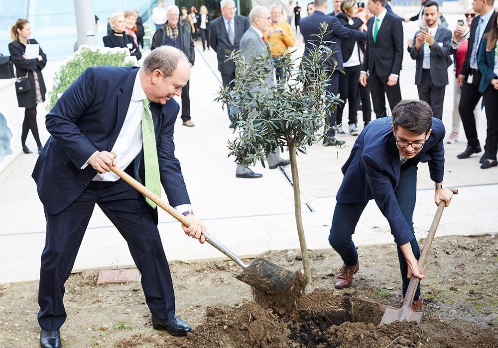 Felix Finkbeiner und Prinz Albert unterstützen Klimaschutz