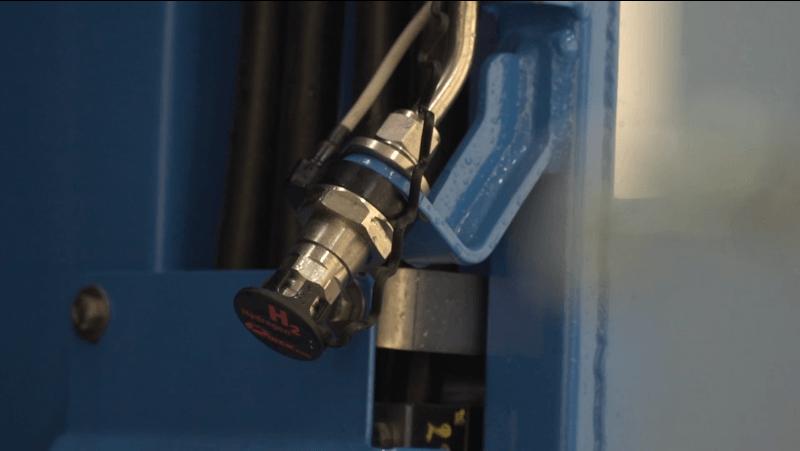 Tankvorrichtung eines Wasserstoffzugs