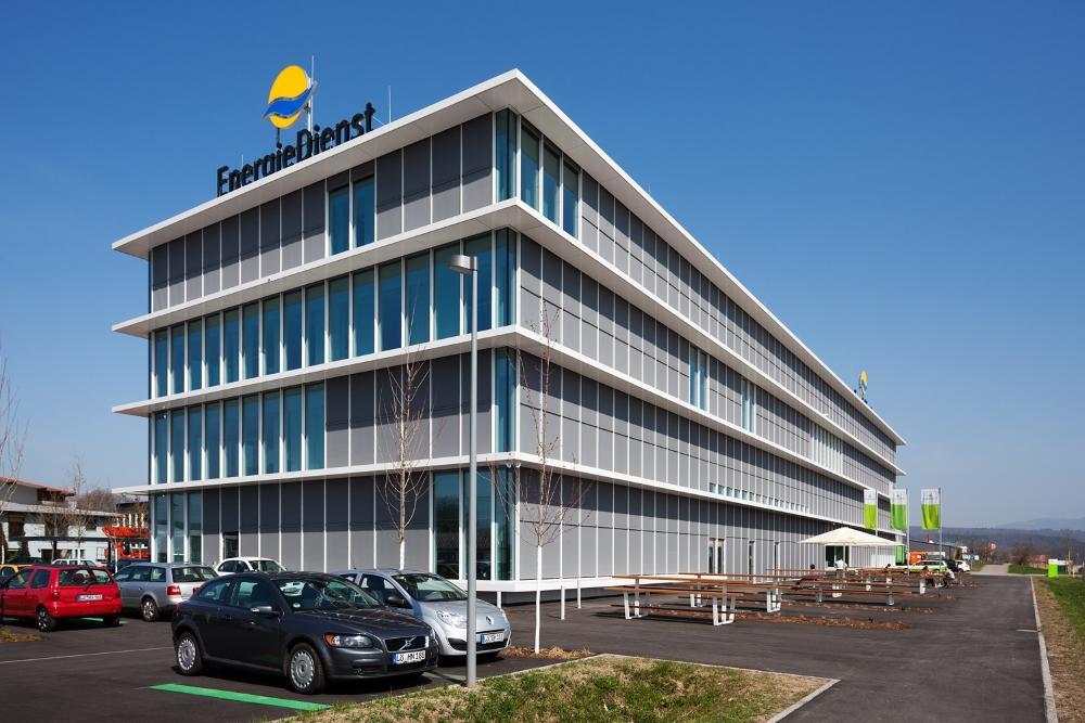 Energiedienst Bürogebäude Rheinfelden bei der Nacht der Ausbildung
