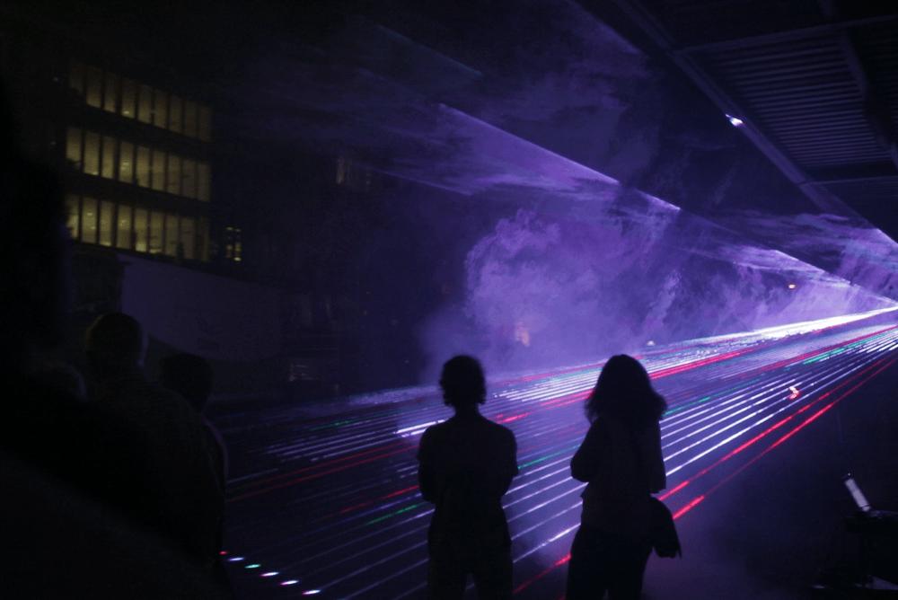 Lasershow bei der Nacht der Ausbildung