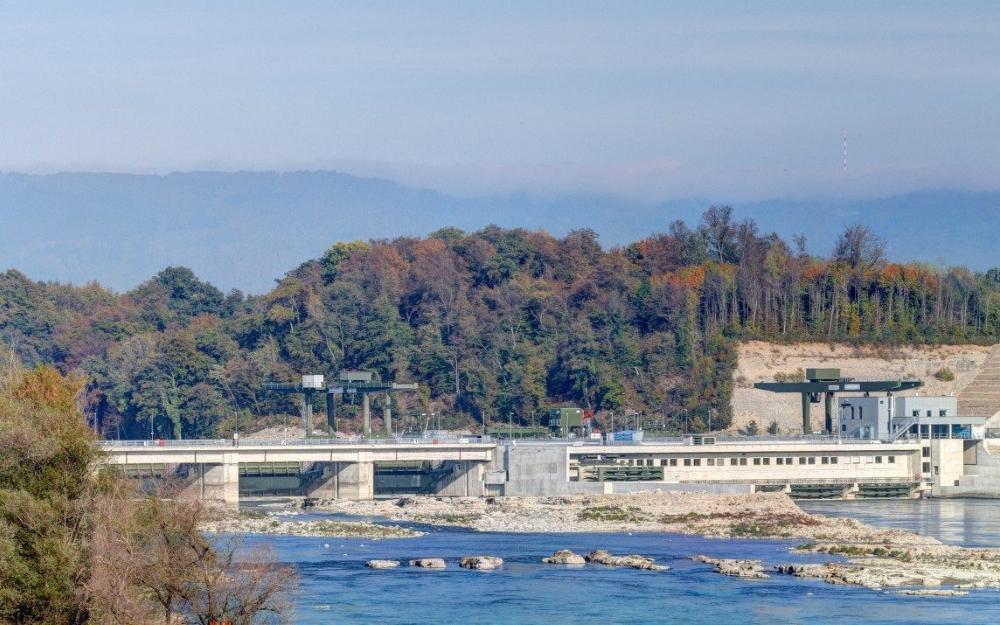 Klimaneutrales Wasserkraftwerk Rheinfelden